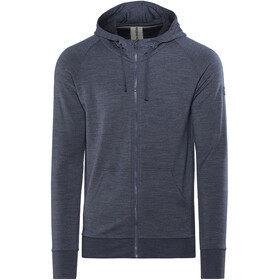 super.natural M's Essential Hoodie Zip Navy Blazer Melange